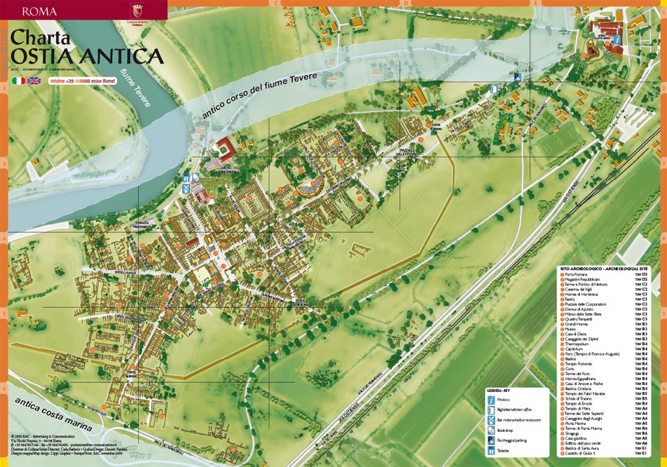 Ostia Antica Italy  City new picture : Charta Ostia & Ostia antica Charta Roma Mappa Ufficiale del Comune ...